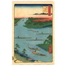 Utagawa Hiroshige: Nakagawa River Mouth - One Hundred Famous View of Edo - Artelino