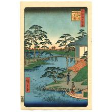 Utagawa Hiroshige: Mokuboji Temple - One Hundred Famous View of Edo - Artelino