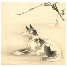 尾形月耕: Waiting Dog - Artelino