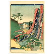 Utagawa Hiroshige III: Tie-dye Cloth - The Scenic Places of Tokaido - Artelino