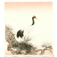Ito Nisaburo: Crane on Pine Tree - Artelino