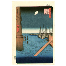 歌川広重: Tsukuda Island - One Hundred Famous View of Edo - Artelino
