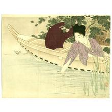 Takeuchi Keishu: Lady in a Boat - Artelino