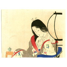 Tomioka Eisen: Lady and Lantern - Artelino
