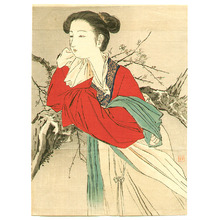 梶田半古: Chinese Lady in Red - Artelino