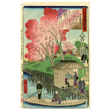 Utagawa Hiroshige III: Cherry Blossoms at Sumida Banks - Famous Places of Tokyo - Artelino