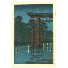 Kawase Hasui: Miyajima at Night - Artelino