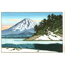 川瀬巴水: Mt.Fuji and Lake - Artelino