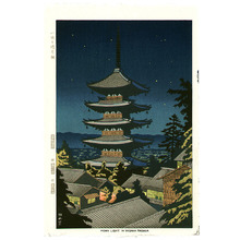 Fujishima Takeji: Moonlight at Yasaka - Artelino