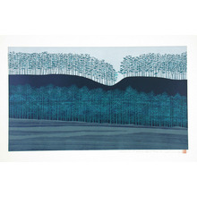 Ono Tadashige: Stretch of Trees (blue) - Artelino