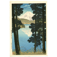 Kasamatsu Shiro: Mount Fuji at Lake Ashinoko - Artelino