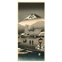 Unknown: Mt.Fuji and Snowy Town - Artelino