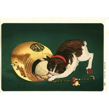 小林清親: Cat and Lantern - Artelino