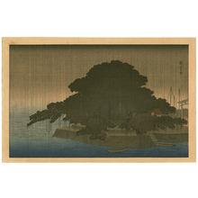 Utagawa Hiroshige: Night Rain on Karasaki - Ohmi Hakkei - Artelino