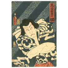 Utagawa Kunisada: Sumo Wrestler Iwakawa - Artelino
