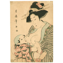 喜多川月麿: Mother and Child - Artelino