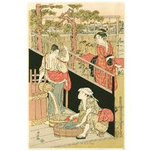 Torii Kiyonaga: Washing Cloth - Artelino