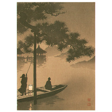 古峰: Lake Biwa - sepia version - Artelino