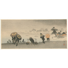 山本昇雲: Parasols at Riverside - Artelino
