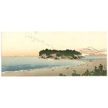 Yoshimoto Gesso: Sunset at Beach - Artelino