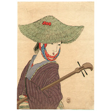 Takeuchi Keishu: Shamisen Player - Artelino