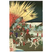 Tsukioka Yoshitoshi: Saigo at Mt.Hanaoka - Kagoshima Rebellion - Artelino