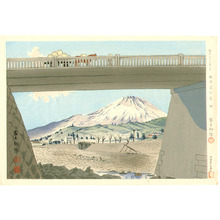 徳力富吉郎: Fujimi Bridge - Thirty-six Views of Mt.Fuji - Artelino