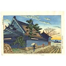 藤島武二: Twilight in the Villege, Nara - Artelino