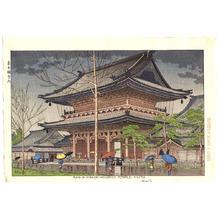 藤島武二: Rain at Higashi Honganji Temple - Artelino