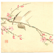 Imao Keinen: Bird and Cherry Blossoms - Artelino