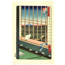 Utagawa Hiroshige: Asakusa Ricefields - One Hundred Famous Views of Edo - Artelino