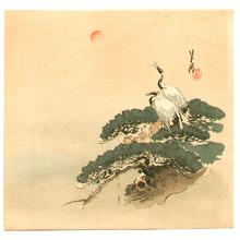 尾形月耕: Cranes and Pine - Artelino