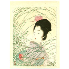 Tsukioka Kogyo: Beauty in the grass - Artelino