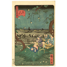 Utagawa Hirokage: Humorous Scene at Mt. Dokan - Edo Meisho Douke Zukushi - Artelino