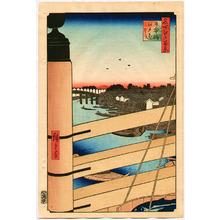 歌川広重: Meisho Edo Hyakkei - Nihonbashi Edobashi - Artelino