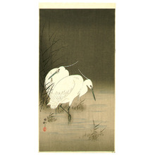 小原古邨: Two Egrets - Artelino