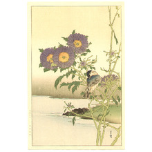 Yoshimoto Gesso: Blue Bird and Asters - Artelino