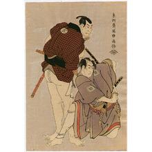 Toshusai Sharaku: Two Samurai - Kabuki - Artelino
