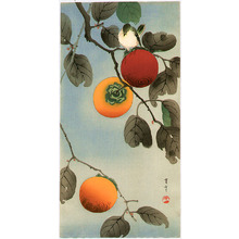 Watanabe Seitei: Bird on a Persimmon Tree - Artelino