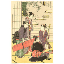 鳥居清長: Beauties and Shamisen - Artelino