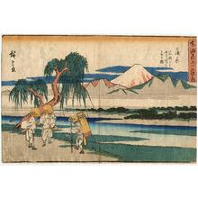 歌川広重: Kanbara - Gyosho Tokaido - Artelino