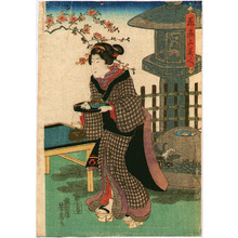 Utagawa Yoshifusa: Beauty in Tea House - Artelino