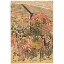 勝川春扇: Festival Parade - 1 - Artelino