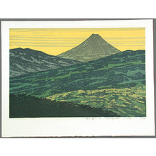 北岡文雄: Viewing Mt.Fuji from a Pass - A - Artelino