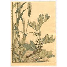 今尾景年: Bird, Flowering Plant and Wheat - Keinen Gafu - Artelino