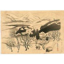 Ono Bakufu: Snowy Landscape - Artelino