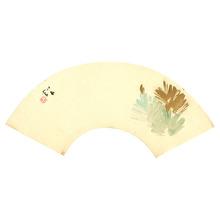Takeuchi Seiho: Pine on Fan - Artelino