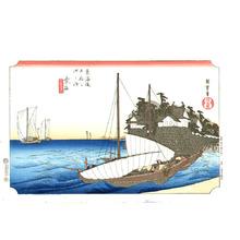 Utagawa Hiroshige: Kuwana - Fifty-three Stations of Tokaido (Hoeido) - Artelino