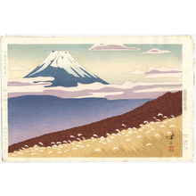 Kusaka Kenji: Mt.Fuji seen from Jukkoku - Pass - Artelino