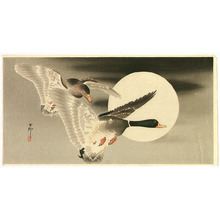 Ohara Koson: Two Ducks and the Moon - Artelino